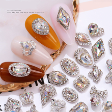 10 pieces colorful rhinestone nail art decoration gold gemstone nail rhinestone nail decoration moon star shaped jewelry design