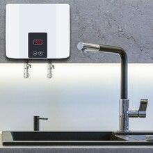 מיידי Tankless דוד מים חשמלי קיר רכוב דוד תרמוסטט מהיר חימום חם מקלחת לאמבטיה מטבח 5500W