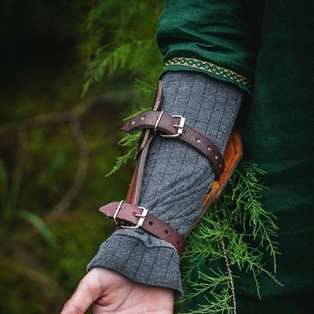 Durable PU Leder Arm Armschiene Armee Ritter Arm Armschiene Verband R/üstung Einstellbare Armband Schutz Arm Armschiene f/ür M/änner Frauen