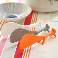 NEW 2Pcs Lovely Kitchen Supplie Squirrel Shaped Ladle Non Stick Rice Paddle Meal Spoon Household Plastic Non-Stick Rice Spoon