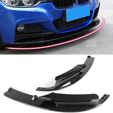 2pcs/set Front Bumper Lip Cover Carbon Fiber Surface for BMW F30 3 Series M Style 2012-2018 Only Sports Version