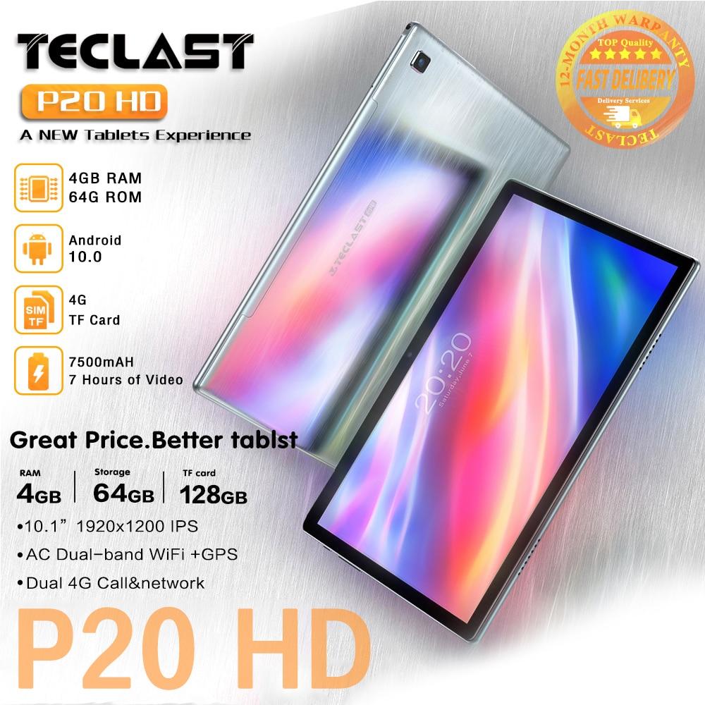 Nuevo Teclast P20HD 10,1 pulgadas tabletas Android 10,0 OS 4GB RAM 64GB ROM 1920 × 1200, 6000mAh batería AI-velocidad-