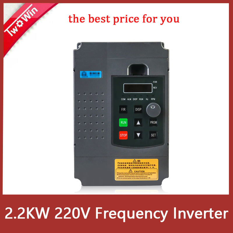 2.2KW 220V VDF Inverter Single Phase input 220V 3 Phase Output Frequency Converter Adjustable Speed Drive For CNC Motor image