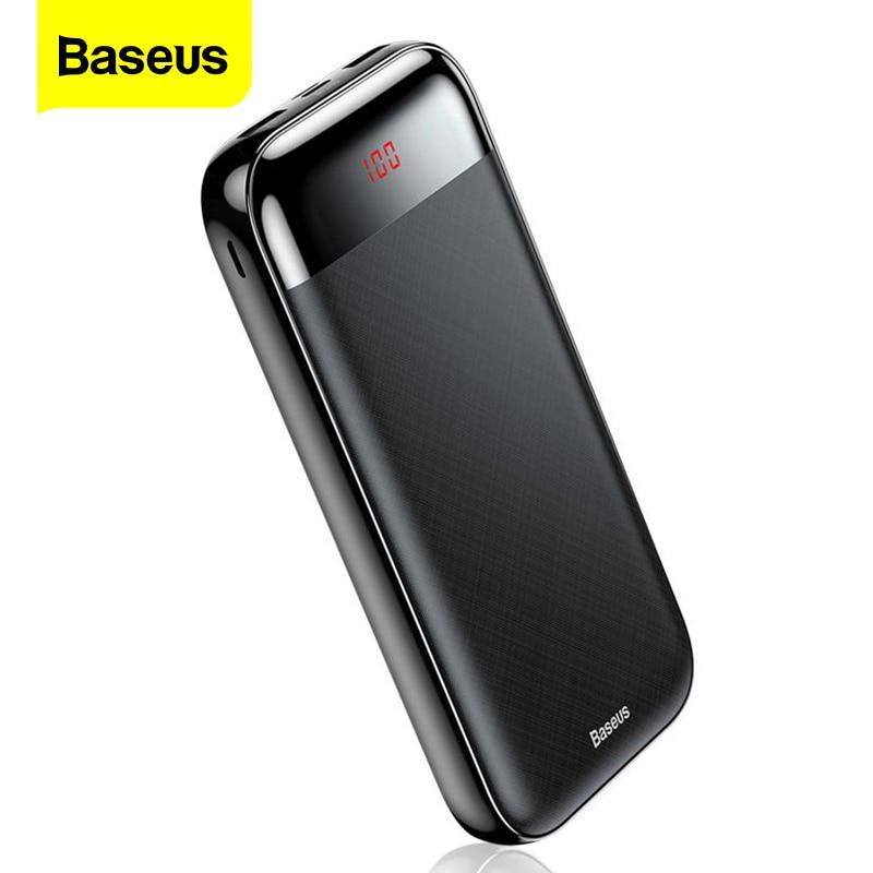 BASEUS 20000mAh Power Bank LCD Powerbank ชาร์จ Protable 3 เอาท์พุทอินพุตภายนอกแบตเตอรี่ PD ชาร์จสำหรับโทรศัพท์มือถือโทรศัพท์-ใน แบตสำรอง จาก โทรศัพท์มือถือและการสื่อสารระยะไกล บน
