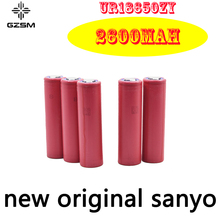 GZSM 18650 battery for Sanyo UR18650ZY rechargeable 2600mAh 3.6V 10A For powerbank