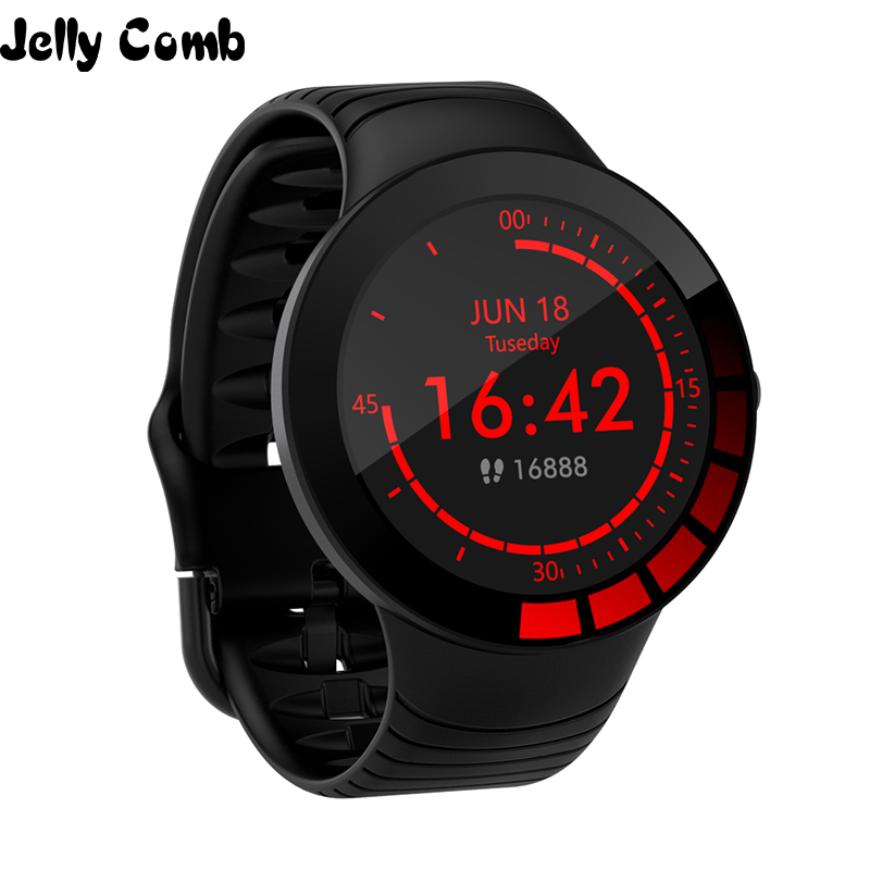 Jelly Comb Men Sport Smart Watch Waterproof IP68 Heart Rate Smart Watch For Huawei Ios Full Touch Bluetooth Smartwatch Pedometer