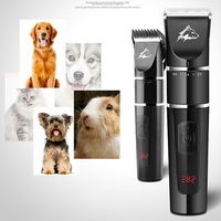 Cutting USB Charging Cordless Grooming Scissors Dog Trimmer Kit LCD Display Brush Electrical Pet Hair Professional Low Noise