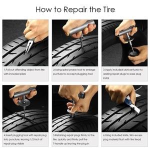 Image 5 - Kit de reparação de pneus van do carro da motocicleta ferramentas de reparo de pneus de emergência resistente sem câmara de ar pneu puncture repair kit