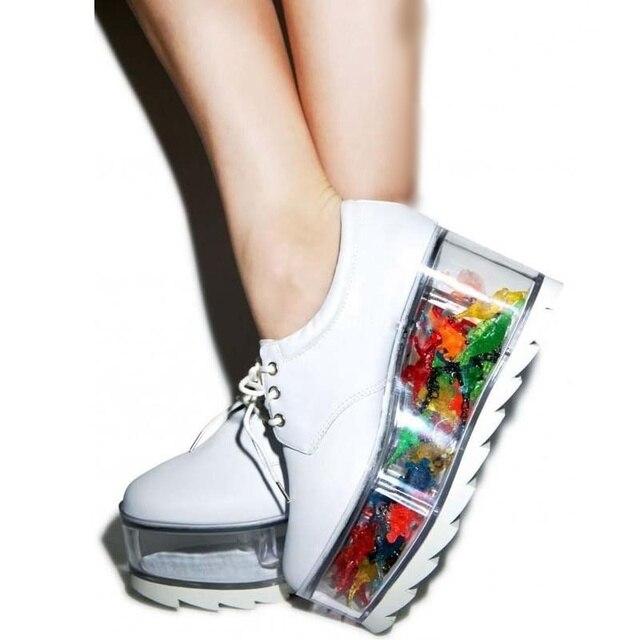 Transparent Flats Platform Sneakers