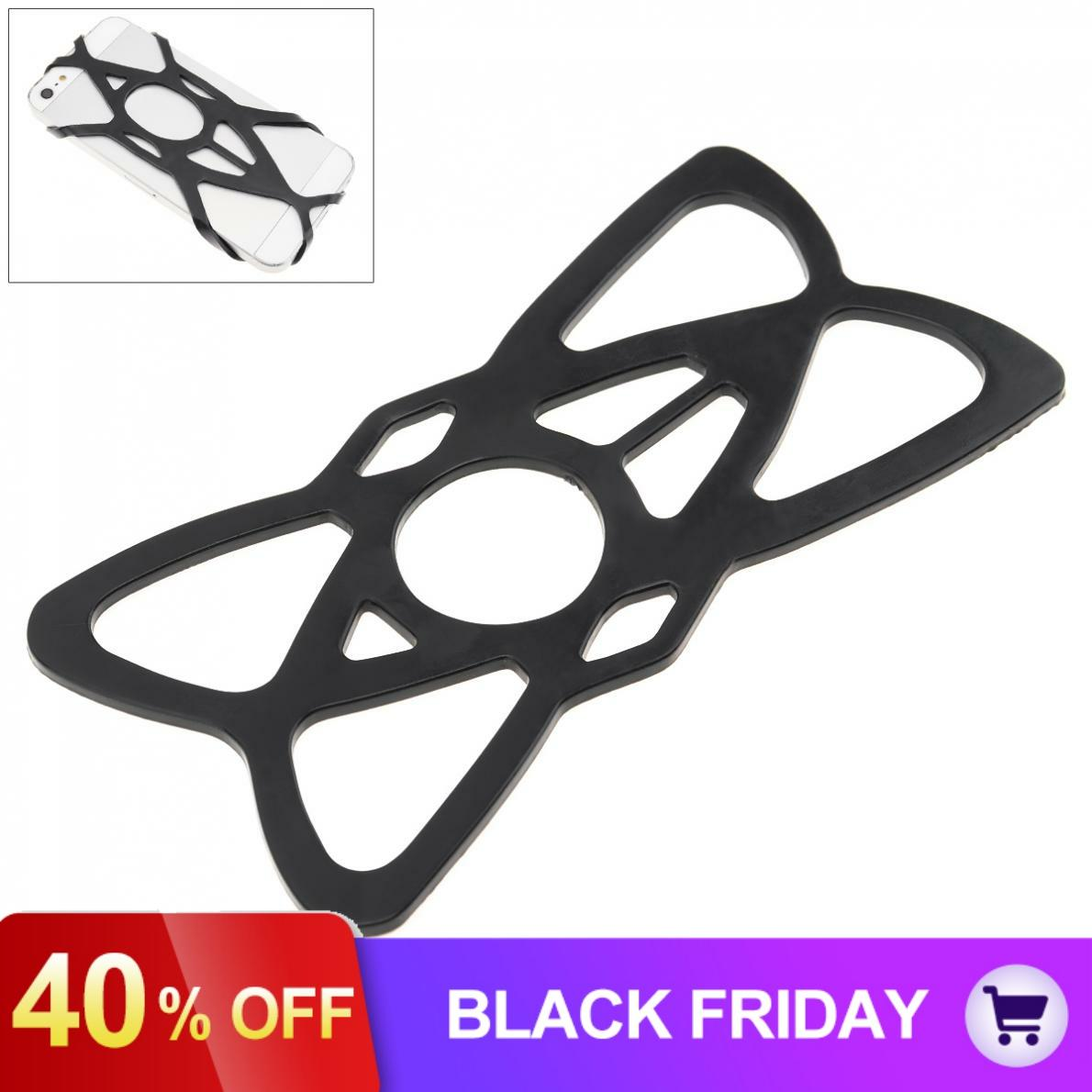 Silicone Motorcycle Mobile Phone Holder Elastic Strap Motorbike Cellphone Stand Bracket
