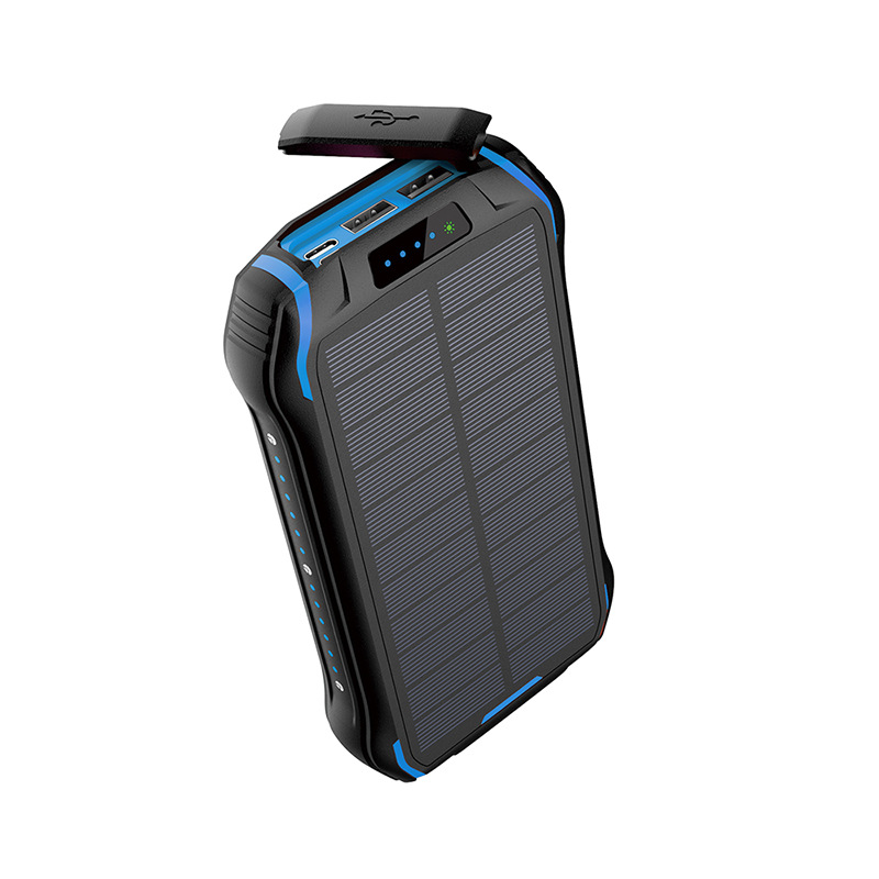 Solar Power Bank Waterproof Powerbank Battery Powerbank Portable Charger LED LCD Real Capacity 26800 MAh for All Smart Phone