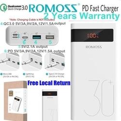 Romoss 30000 mah Power Bank PD szybkie ładowanie 3.0 Powerbank 30000 mah dla iPhone 8 X Samsung S10 uwaga 9 Huawei telefon szybkie ładowanie w Powerbank od Telefony komórkowe i telekomunikacja na