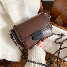 Fashion Luxury Handbags Women Bags Designer Bag PU Leather Chain Shoulder Bag Solid Versatile Hasp Crossbody Bag Bolsa Feminina