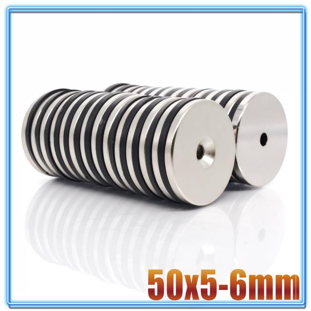1/3/10/20pcs <font><b>50mm</b></font> x 5mm Hole 6mm N35 Super Neodymium Round Ring Permanent <font><b>Magnet</b></font> 50x5-6 search <font><b>magnet</b></font> 50x5-6mm image