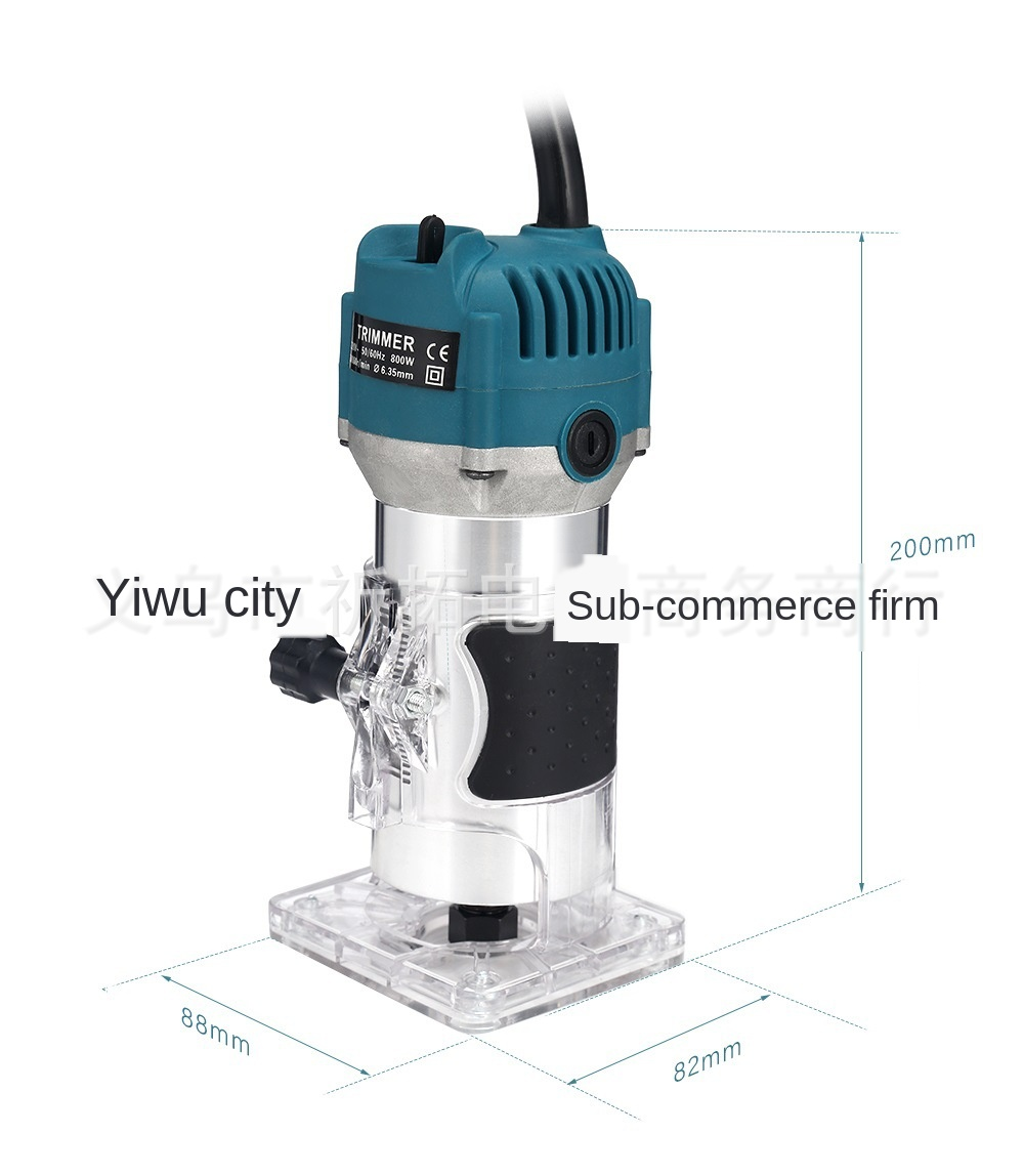 110V800WWoodworking Electric Edge Trimmer Wood Milling Groove Trimming Machine Manual Engraving Machine Wood Engraving Machine