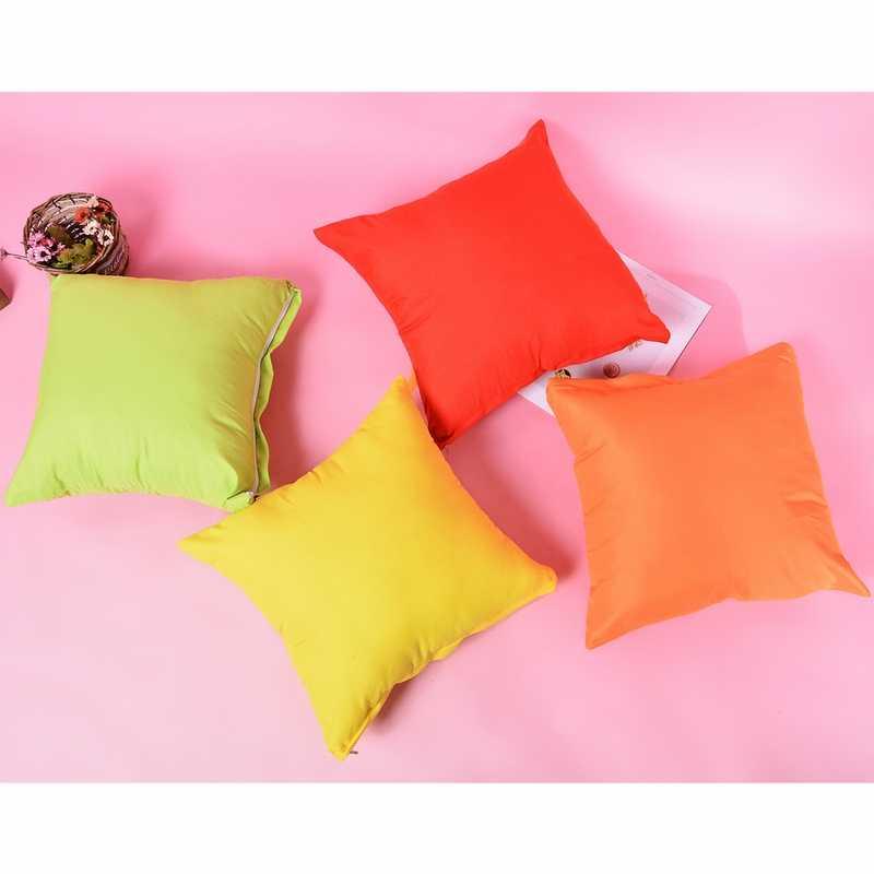 Baru 2020 Baru Permen Warna Solid Sarung Bantal Dekoratif Sarung Bantal Sofa 40X40 Cm Melempar Bantal Case