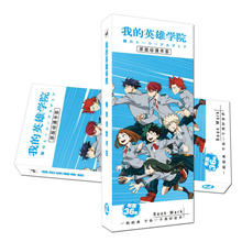 36 Pcs/Set New Arrived Boku no Hero Academia Anime Paper Bookmark Stationery Bookmarks Book Holder Message Card Gift