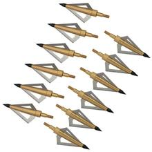 12個125粒ステンレス鋼アーチェリーbroadheadsシャープ矢印ヘッドハンティング矢印のヒント撮影複合弓とクロスボウ
