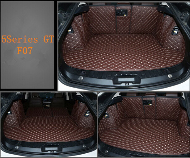 Non Slip Easy Clean Wholy Surrounded No Ordor Special Car Trunk Mats for BMW5 Series GT F07 Wear resisting Waterproof Boot Carpe non slip mat car - title=