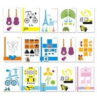 Copy Board Necessary Help Random Special Paper For Kid 15pcs 3D Pen Graffiti Board Template Template Mold