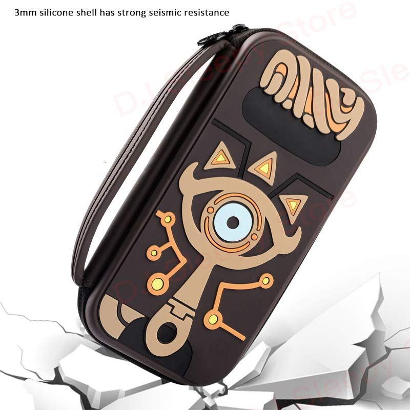 Switch Water-resistent Case Bags Silica Gel The Legend Of Zelda Sheikah Slate Carrying Storage Bag