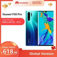 Version mondiale Huawei P30 Pro 8 go 256 go Kirin 980 Octa Core Smartphone 50x Zoom numérique Quad caméra 6.47 ''plein écran OLED NFC