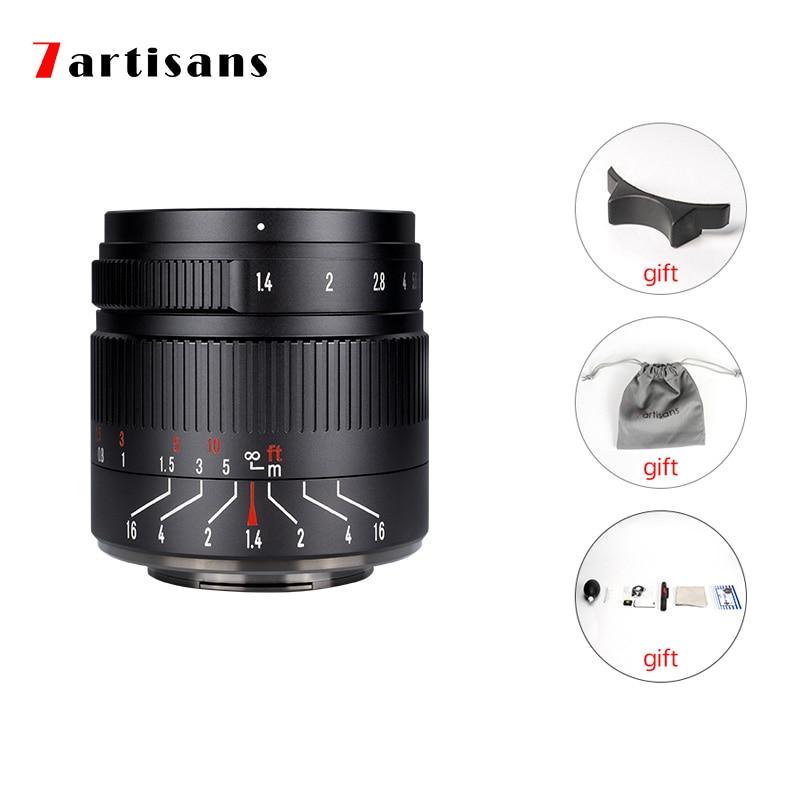 7 artisans 55 мм F1.4 II большой светосильный объектив с фиксированным фокусным расстоянием для Sony E mount A7/однообъективной зеркальной камеры Canon eos-m/...