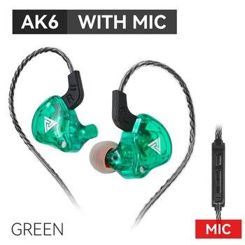 Original QKZ AK6 Copper Driver HiFi Wired Earphone Sport Running  Headphones Bass Stereo Headset Music Earbuds fone de ouvido 5