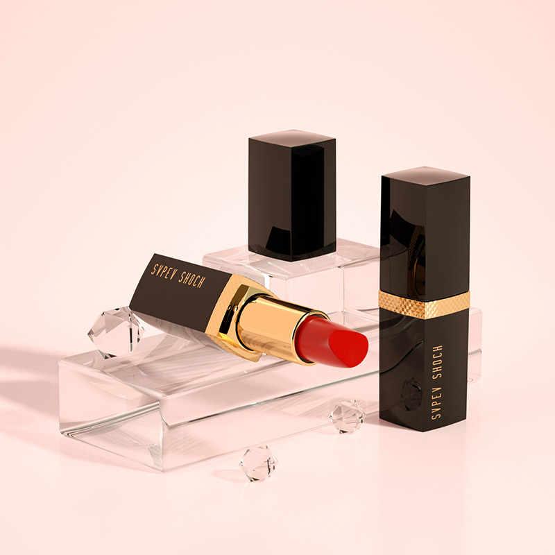 MYG מאט שפתון מקצועי קוסמטי קטיפה שפתון מט שפתון אדום חום שפות איפור ארוך-רשימת מים ירודה שפתון