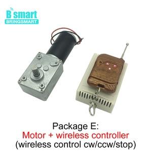 Image 4 - A58SW31ZY 7 470rpm dc 24v ワームギヤードモータ磁気モーター 1.6 70 キロ。センチ高トルク d シャフト 12v モータ回転テーブルドア自己ロック