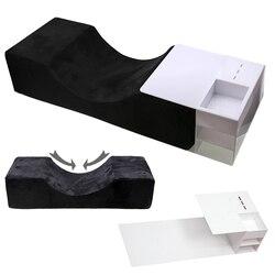 Profesjonalne rzęsy rozszerzenie poduszka specjalne flanelowe użytku w salonie pamięci piękno poduszka stojak szczepione do salonu piękności w Poduszki podróżne od Dom i ogród na