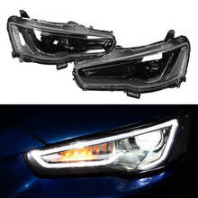 VLAND-bombillas LED para proyector de doble haz, focos dinámicos opacas para Mitsubishi Lancer/Evo X 2008 2009 2010-2017 LHD opaca