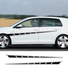 цена на 2 Pcs Car Door Side Stickers for Peugeot Kia 206 Opel Ford Focus 2 BMW E46 E60 Audi A4 A3 VW Golf 4 Passat B6 Renault Accessorie