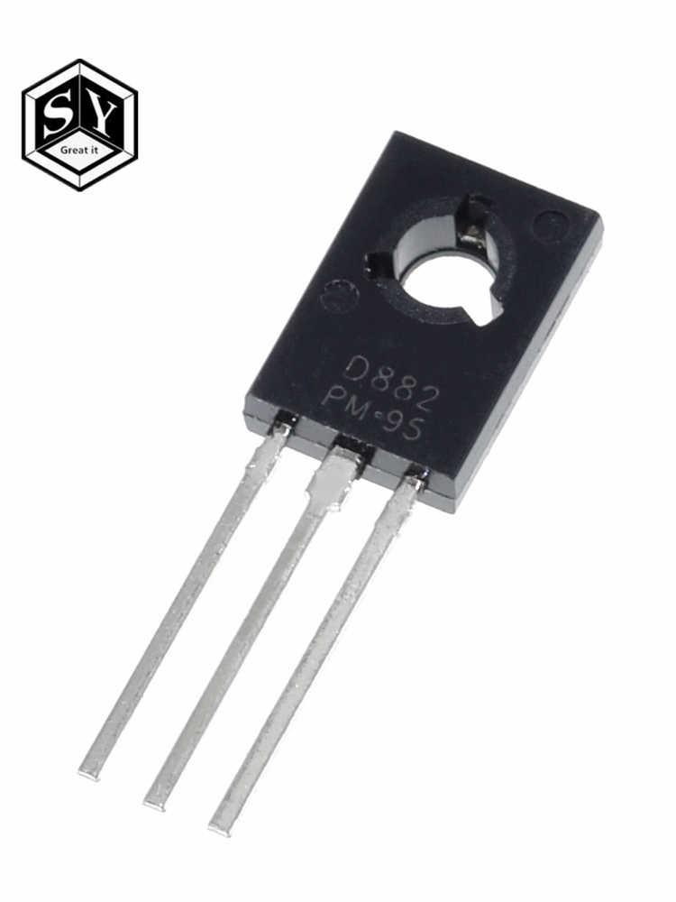 10 Stks/partij Triode Transistor D882 2SD882 3A/40V To-126 Npn Power Triode Nieuwe Originele