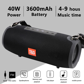 Bluetooth Speaker TG118 High Power 40W Stereo Subwoofer
