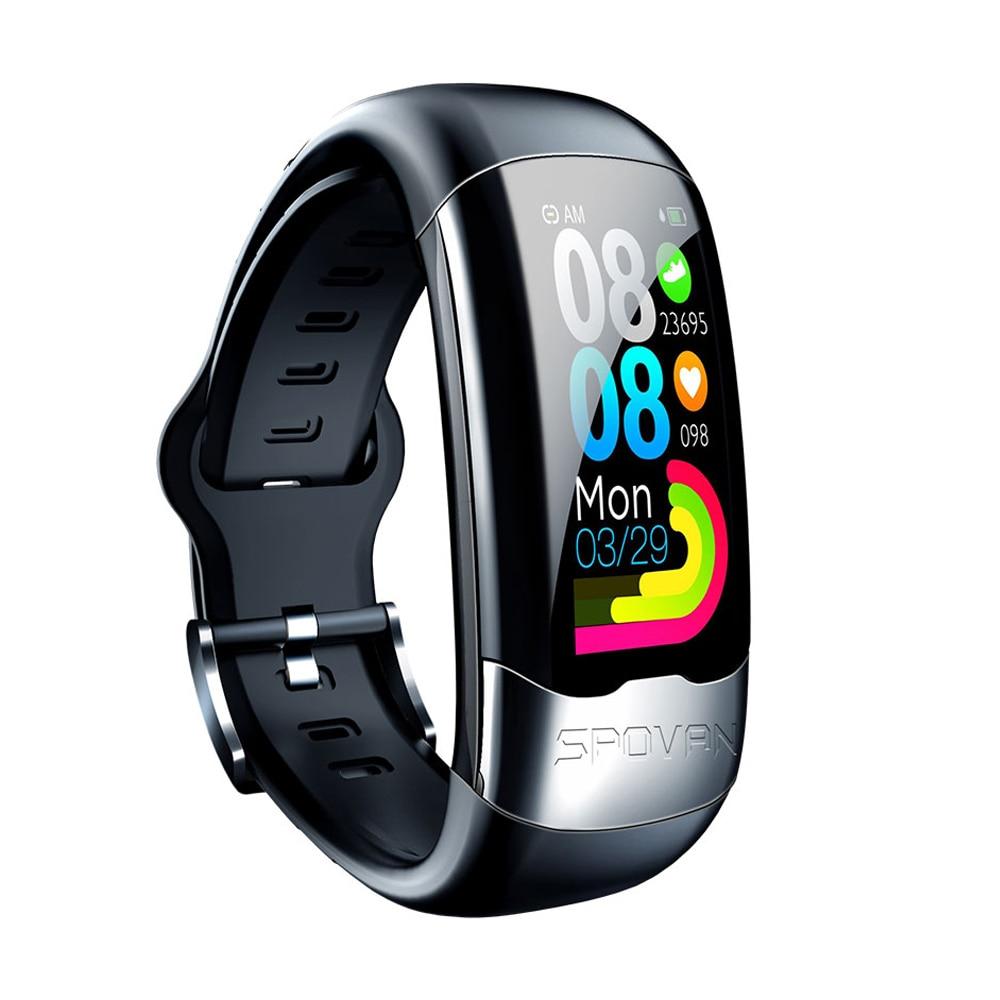Умный Браслет ECG PPG, пульсометр, монитор артериального давления, IP67 водонепроницаемый, для бега, плавания, спорта