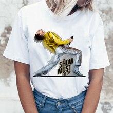2019 New Freddie Mercury T Shirt Women Harajuku Vintage Ullzang T-shirt Fashion Queen Tshir