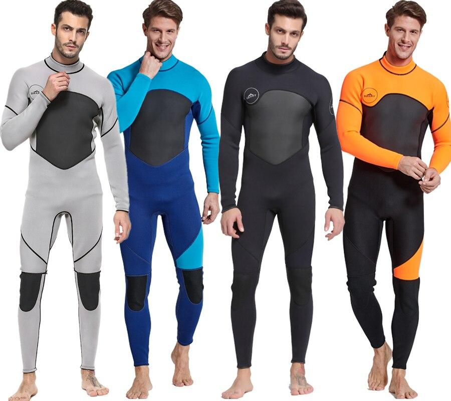Date 3mm néoprène combinaison hommes femmes maillot de bain équipement pour la plongée sous-marine natation surf chasse sous-marine costume Triathlon combinaisons