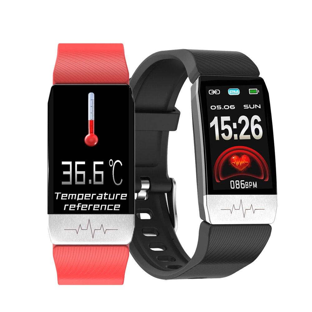 Смарт браслет с ЭКГ + ППГ, фитнес трекер с функцией измерения температуры тела, артериального давления, водонепроницаемый спортивный смарт браслет для мужчин и женщин, 2020 Смарт-браслеты    АлиЭкспресс