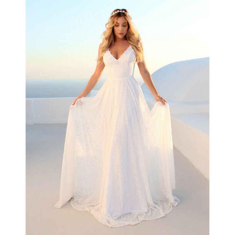 2020 ร้อนสีขาวยาวชุดปาร์ตี้งานแต่งงาน Amazing เซ็กซี่ลูกปัดชั้นความยาวลูกไม้งานแต่งงานเพื่อนเจ้าสาวยาวชุด