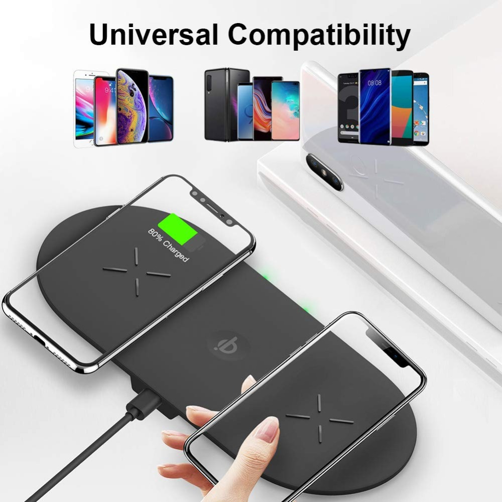 Bonola 3 In1 Wireless Charging Pad For iPhone 11Pro11XRXsMax Charger Dock For Apple Watch 5 Wireless Charger For AirPods Pro (7)