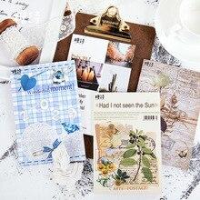 Mohamm 20 листов журнал материал Плоские наклейки вдохновляющий альбом декоративные стационарные Скрапбукинг подарок для девочек школьные принадлежности