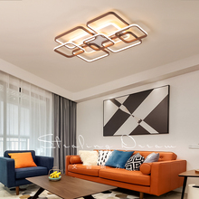 Rectangular modern led chandelier luxury living room dining bedroom acrylic surface mounted ceiling fixtures