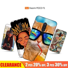 [Clearance] Soft TPU Case For Xiaomi Pocophone F1 Matte Patterned Full Back Cover Silicone Case For Pocophone F1 Cute Cartoon for xiaomi pocophone f1 case slim skin matte cover for xiaomi f1 pocophone f1 case xiomi hard frosted cover xiaomi poco f1 case