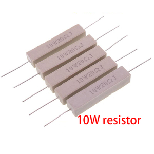 10pcs 10W Cement resistance resistor 10 15 20 25 ohm 10R 15R 20R 25R