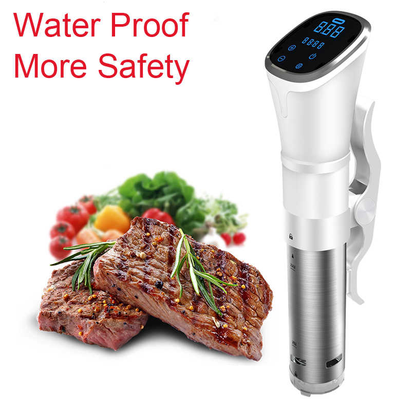 2KG 1800W Vacuum Slow Sous Vide Food Cooker Powerful Immersion Circulator LCD Digital Timer Display Stainless Steel IPX7
