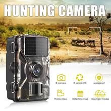 Cámara de caza al aire libre, 12MP, 1080P, Detector de animales salvajes, Trail HD, impermeable, detección de calor infrarrojo, visión nocturna
