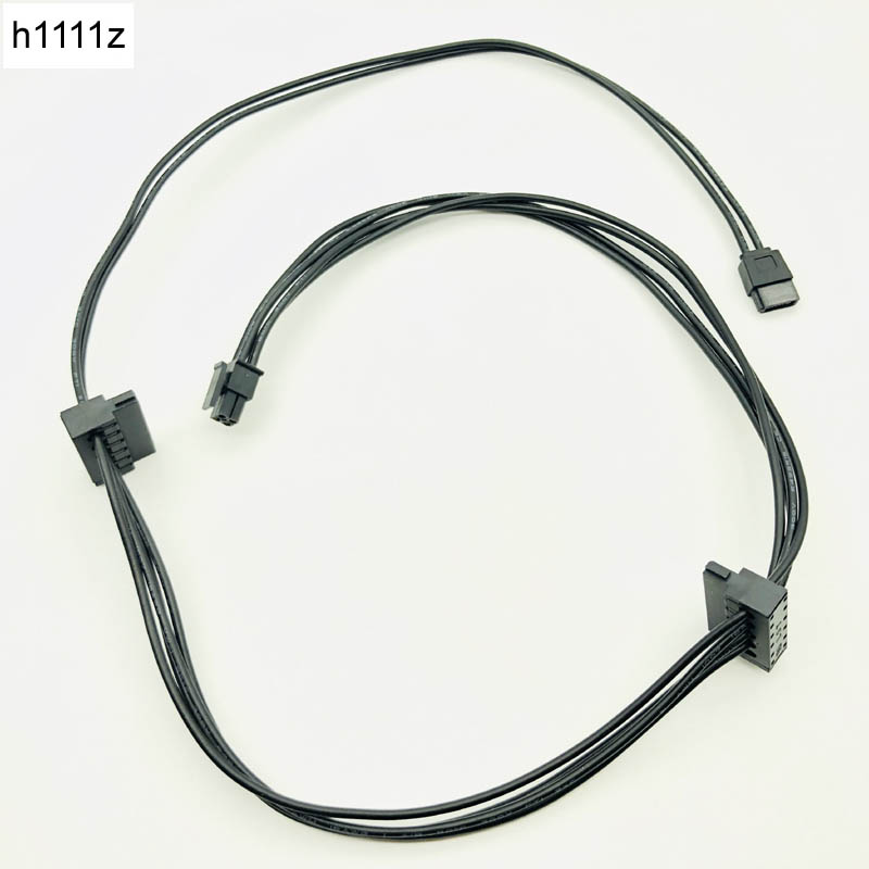 QINDIAN Computer <font><b>Cable</b></font> & Connector <font><b>Mini</b></font> <font><b>4Pin</b></font> to 2 SATA SDD Power Supply <font><b>Cable</b></font> Optical Drive <font><b>Cable</b></font> for Lenovo Main Board 75cm NEW image