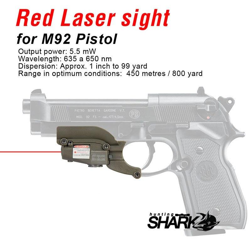 PPT Горячее предложение красное лазерное устройство для M92 с боковыми канавками для охотничьих HS20-0020