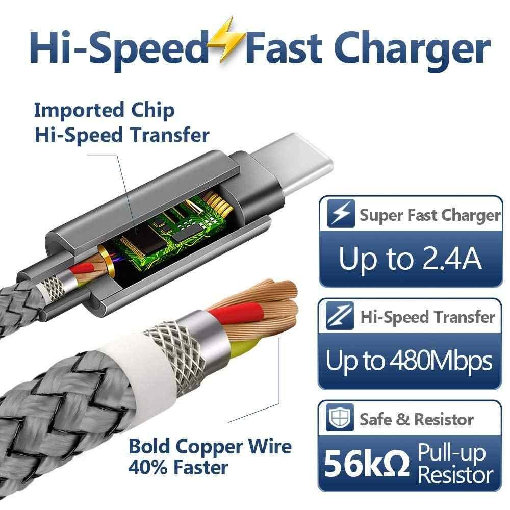شاحن كابل USB نوع C لهاتف هواوي P30 P20 Lite Pro Mate 10 20 30 Pro Honor V20 10 9 8 Navo 2 3 3i 4e كابلات شحن